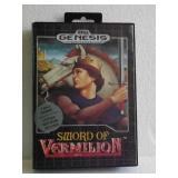 "Sega Genesis ""SWORD OF VERMILION"" 16-Bit Video Gae"
