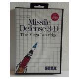 """Sega The Mega Cartridge """"MISSILE DEFENSE 3-D"""""""