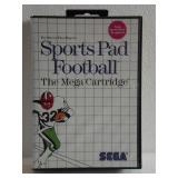 "Sega The Mega Cartridge ""SPORTS PAD FOOTBALL"""