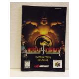 Mortal Kombat 4 - N64 Instruction Booklet