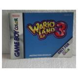Wario Land 3 - Nintendo Game Boy Color Instruc