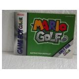 Mario Golf - Nintendo Game Boy Color Instruction