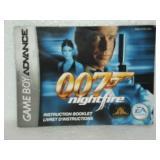 007 Night Fire - Game Boy Advance Instruction