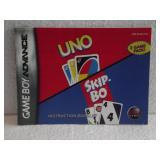 Uno & Skip Bo - Game Boy Advance Instruction Book