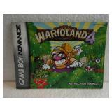 Wario Land 4 - Game Boy Advance Instruction Book