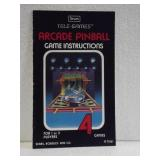 Sears Tele-Games Arcade Pinball - Owners Manual