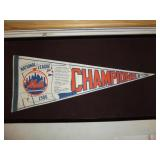 1986 Mets National League Champions Penant