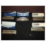 Harmonica Lot of 5 with cases