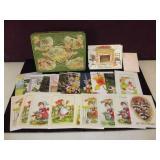 VIntage Tin Full of Cards & Envelopes