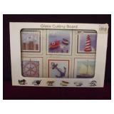 Nautical Glass Cutting Board