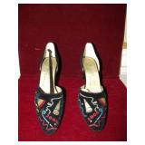 Elements 2000 Millenium Black Lux Velvet Shoes New