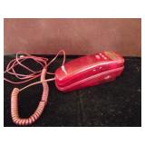 Bell Red Transluscent Push Button Phone