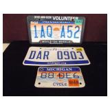 Michigan License Plates Lot of 3, 1 Cycle