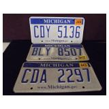 Michigan License Plates Lot of 3