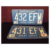 Two Michigan Plates