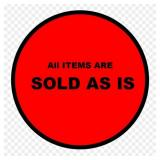 SOLD AS IS