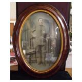 Antique Portrait of a Soldier, Domed Glass