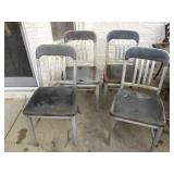 Vintage Good Form Alluminum Chairs Lot of 4
