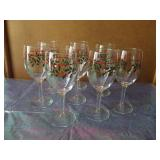Holy Christmas Wine Goblets  Set of 8