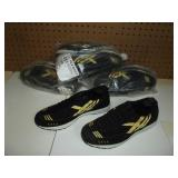 New-Womens Black & Gold Sneakers-Size