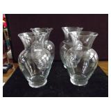 Clear Glass Vases Lot of 4