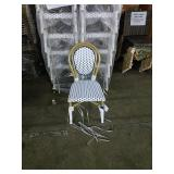 White & Blue Parisian Side Chair