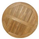 "Genuine Teak Table Top - 42"" Round"