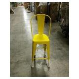 Manhattan Barstool With Back - Yellow