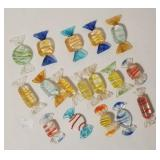 Art Glass Candy - 17 Pieces