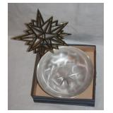 Ikora Silverplate Brushed Swirl Design Bowl & Old