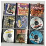 9 Software Games - Deer Hunter, Clue, Hockey, Aste