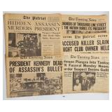 1963 President Kennedy Assasination Newspapers