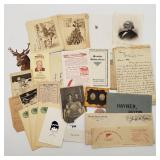 Ephemera - Political Ad, Christmas Cards, Letter+