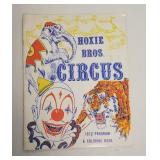 1972 Hoxie Bros. Circus Program & Coloring Book