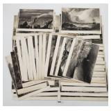 Vintage Black & White Etchings - Abingdon, Lulwort