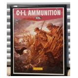 C-I-L Ammunition Framed Advertising Print