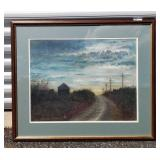 Russell Finley Framed Litho country Road Scene