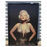 Marilyn Monroe Framed Print on Tack board