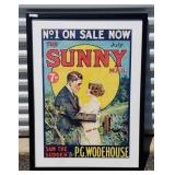 Vintage Sunny Mag. Framed Advertising
