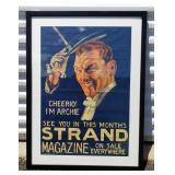 Vintage Strand Magazine Framed Advertising