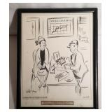 Vintage Original Cartoon Sketch Art by Gill Fox Da
