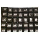 Antique B&W Railroad Photo Slides 2X2 Glass w Meta