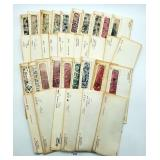 Stamp Collectors Lot - Loose 1-8 Cent Stamps In La