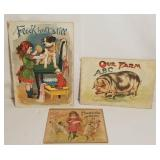 Antique Books German Flock Halt Still, Fun & Froli