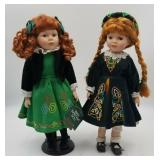 J. Misa Celtic Porcelain Girl Doll & Irish Heritag