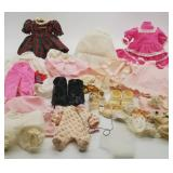 Mixed Lot of Doll Clothing, Shoes, Hats+