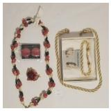 Costume Jewelry Set Bracelet, Earrings +