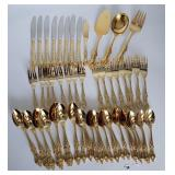 Gold Plated Royal Sealy Flatware Set Japan
