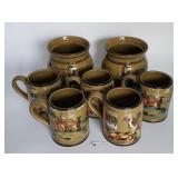Buffalo Pottery Cannisters & Mugs