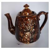 Brown Drip Teapot Unmarked